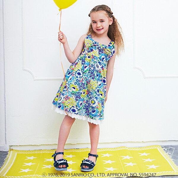 メゾピアノ(mezzo piano)Hello Kitty×Liberty Fabrics ジャンパースカート