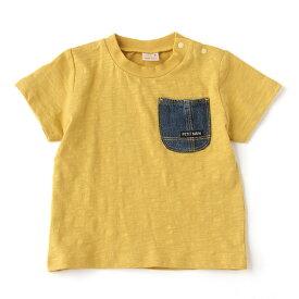 プティマイン(petit main)デニムポケットスラブTシャツ