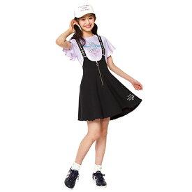 メゾピアノジュニア(mezzo piano junior)ハートジップカットジャンパースカート