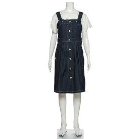 ポンポネットジュニア(pom ponette junior)フロントボタンジャンパースカート