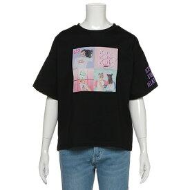 ラブトキシック(Lovetoxic)カラーブロック転写Tシャツ