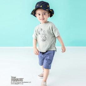 プティマイン(petit main)PEANUTSコラボ オールドビックTシャツ