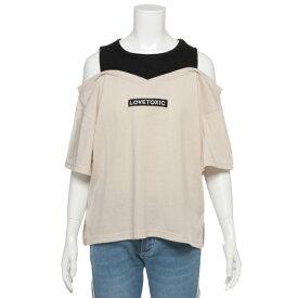 ラブトキシック(Lovetoxic)タンクレイヤード肩あきTシャツ