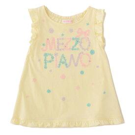 メゾピアノ(mezzo piano)Aライン裾フリルTシャツ