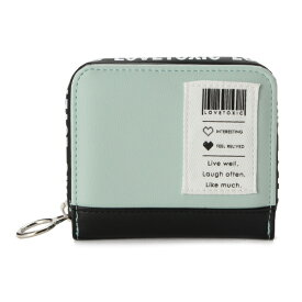 ラブトキシック(Lovetoxic)バーコードパッチ折りたたみ財布