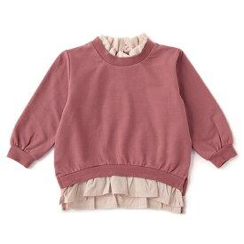 プティマイン(petit main)衿裾フリルトレーナー