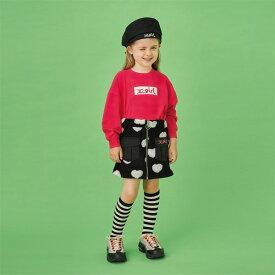 エックスガール ステージス(X-girl Stages)ジップ式ハートジャガードスカート