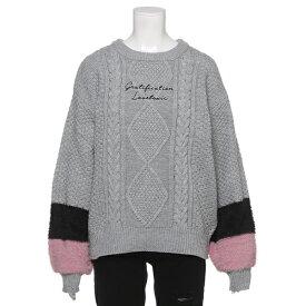 ラブトキシック(Lovetoxic)ウォッシャブル 袖モヘア切り替えセーター