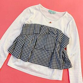 リンジィ(Lindsay)チェリーネックレス風ビスチェドッキングTシャツ