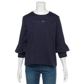 リンジィ(Lindsay)フリル袖刺しゅう入りTシャツ