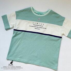 リンジィ(Lindsay)【KANGOLコラボ】 USAコットン ブロッキングTシャツ