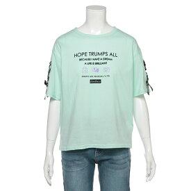 ラブトキシック(Lovetoxic)袖レースアップロゴTシャツ