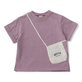 プティマイン(petit main)ポシェットトロンプルイユTシャツ