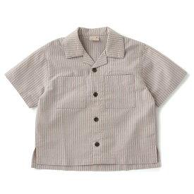 プティマイン(petit main)ストライプ開衿シャツ