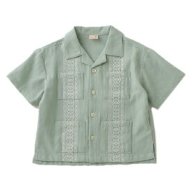 プティマイン(petit main)コットンキューバシャツ