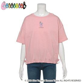 リンジィ(Lindsay)【BARBAPAPA】 カフェドリンク刺しゅうドローストリングTシャツ