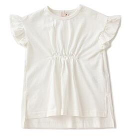 プティマイン(petit main)ウエストギャザーロングTシャツ