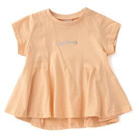 プティマイン(petit main)チビロゴAラインタックTシャツ