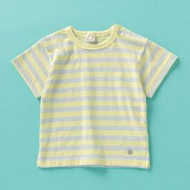 プティマイン(petit main)接触冷感 ボーダー柄Tシャツ