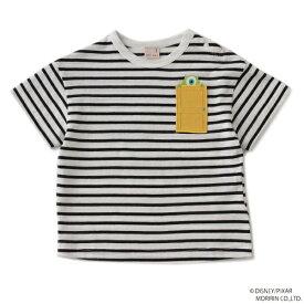 プティマイン(petit main)【DISNEY/PIXAR】 モンスターズ・インク デザイン 扉ワンポイントボーダーTシャツ