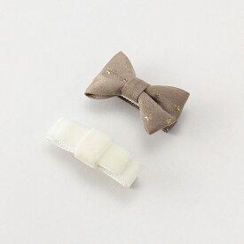 プティマイン(petit main)リボンヘアクリップ2個セット