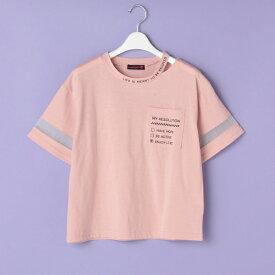 ラブトキシック(Lovetoxic)衿スリットロゴ胸ポケットTシャツ
