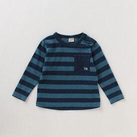 プティマイン(petit main)胸ポケットインディゴTシャツ