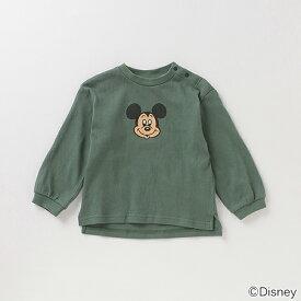 プティマイン(petit main)【DISNEY】 ミッキーマウスデザイン スリット入りTシャツ