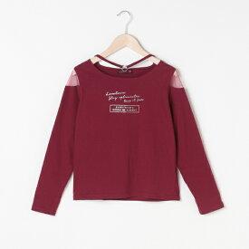 ラブトキシック(Lovetoxic)チョーカー風肩チュールTシャツ