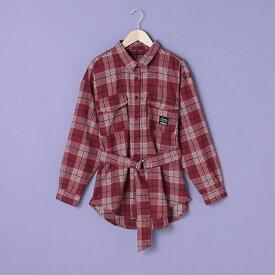 ラブトキシック(Lovetoxic)ベルトつきチェックシャツジャケット