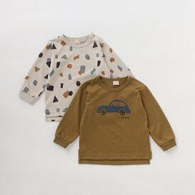 プティマイン(petit main)BOYSアソートTシャツ2枚セット【PTPR】
