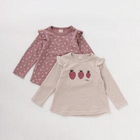 プティマイン(petit main)GIRLSアソートTシャツ2枚セット【PTPR】