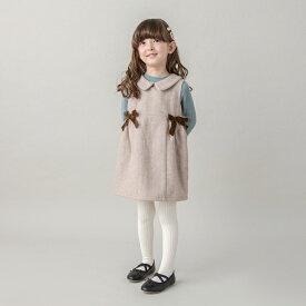 プティマイン(petit main)衿つきリボンジャンパースカート