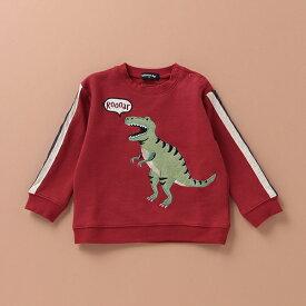 クレードスコープ(kladskap)袖ライン入り恐竜モチーフトレーナー