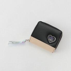 ラブトキシック(Lovetoxic)ハートシリコンパッチバイカラー2つ折り財布