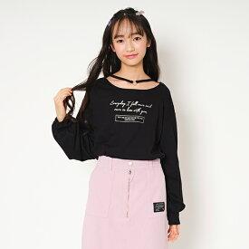 ラブトキシック(Lovetoxic)チョーカー風箔プリントTシャツ