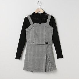 ラブトキシック(Lovetoxic)チェックビスチェ×スカート×レースTシャツ3点セット