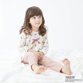 プティマイン(petit main)【PEANUTSコラボ】 収納袋つきスヌーピー総柄Tシャツ×パンツパジャマセット
