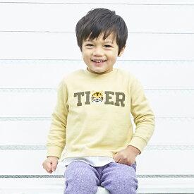 プティマイン(petit main)アニマル刺しゅうレイヤード風Tシャツ