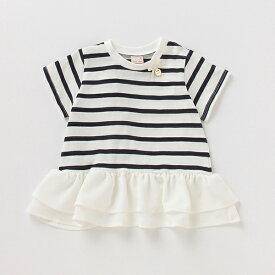 プティマイン(petit main)バックフレアペプラムTシャツ