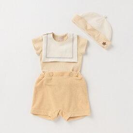 プティマイン(petit main)マリンスタイつきTシャツ×パンツ×帽子セット