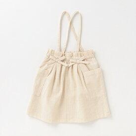 プティマイン(petit main)リボンサスペンダースカート
