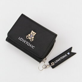 ラブトキシック(Lovetoxic)モチーフ刺しゅう3つ折り財布