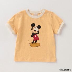 プティマイン(petit main)【DISNEY】ミッキーマウスデザイン リンガーTシャツ