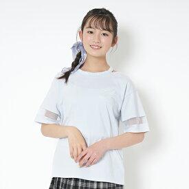 ラブトキシック(Lovetoxic)衿スリットロゴ半袖Tシャツ