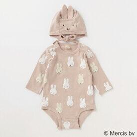 プティマイン(petit main)【ミッフィー】【シアバター】ロンパース×帽子セット