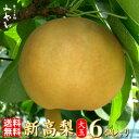 【送料無料】【新高(にいたか)梨】 大玉6個入り  約3.2kg 希少な大玉  極上のしずく梨の玉サイズ:6L〜7Lにいたか 和梨