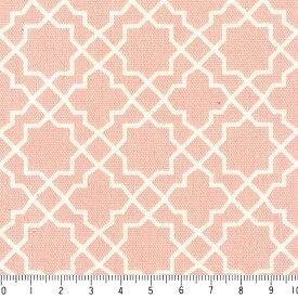 アラベスク ネガ 7555-27 ライトサーモンピンク モロッカン モロッコ ダマスク アラベスク 夜柄 ピンク かわいい 女の子 10cm単位 やや厚手 生成りオックス生地 綿100% 110cm 布 カルトナージュ 生地 商用利用可 生地