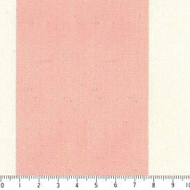 ストライプ 7センチ st7070-27 ライトサーモンピンク 太い ストライプ ボーダー柄 おしゃれ ピンク かわいい 女の子 10cm単位 やや厚手 生成りオックス生地 綿100% 110cm 布 北欧風 インテリア 生地 テーブルクロス カーテン バッグ用生地 商用利用可 生地