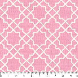 アラベスク ネガ 7555-38 ローズピンク モロッカン モロッコ ダマスク アラベスク 夜柄 ピンク 桜色 かわいい 女の子 10cm単位 やや厚手 生成りオックス生地 綿100% 110cm 布 カルトナージュ 生地 商用利用可 生地